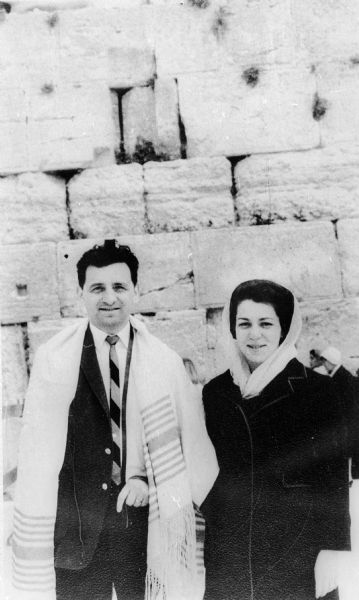 Holocaust survivor Manny Chulew and wife Lenore in Jerusalem, Israel.