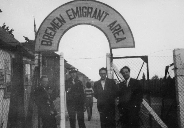 The entrance of the area of emigration for refugees from Europe, taken by Louis Koplin; Bremen, Germany.