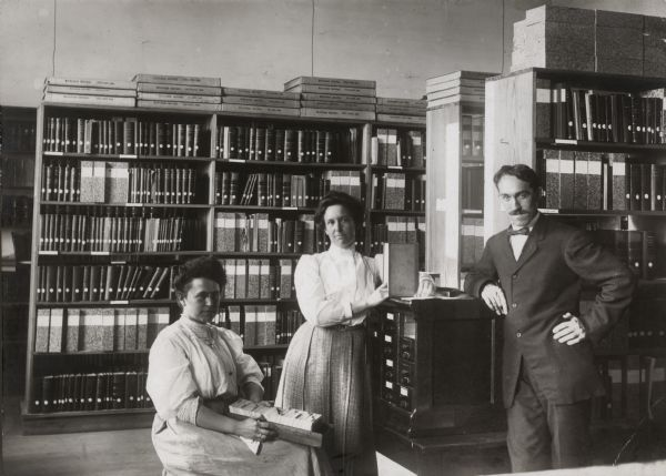 Dr. Charles R. McCarthy and staff at the Legislative Reference Library.