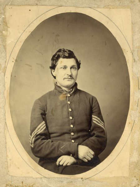Portrait of Cornelius Wheeler of Portage, who served in Company I, 2nd Wisconsin Volunteer Infantry during the Civil War.