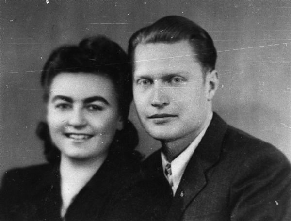 Magda and Eugene Herzberger at the time of their wedding in Cluj, Romania.