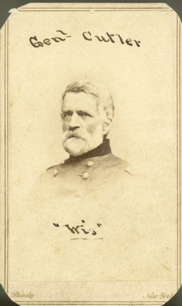Head and shoulders portrait of General Cutler.