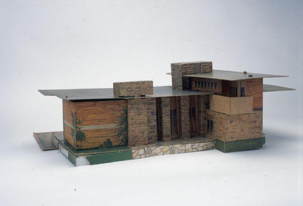 Model Of Bernard Schwartz House Photograph Wisconsin Historical Society