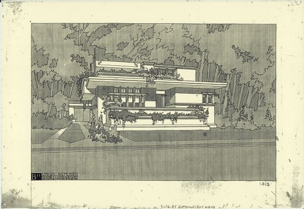 John Howe Papers, Wisconsin Historical Society, Print of an American System-Built House