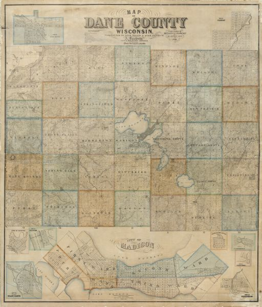 Dane County Map | Map or Atlas | Wisconsin Historical Society on lodi county map, shelby county map, mcfarland school district map, ashland county map, wi county map, rock county map, city of middleton map, wisconsin map, saint croix county map, midwest county map, will county map, lane county map, iowa county map, columbia county map, brown county map, united states map, crawford county map, hardin county map, hamilton county map, fennimore map,