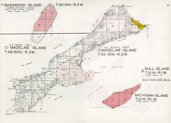 Madeline Island Map Madeline Island Plat Map | Map or Atlas | Wisconsin Historical Society