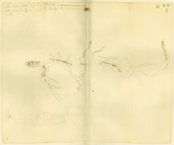 Mammoth Cave Plat Map | Drawing | Wisconsin Historical Society on