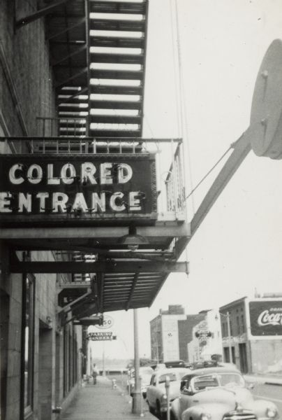 Colored Entrance at Malco Theater | Photograph | Wisconsin Historical  Society