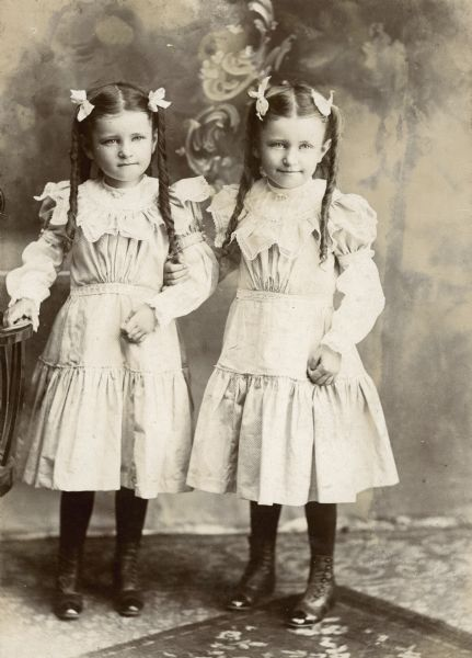 Emma And Marge Willms Twins Photograph Wisconsin