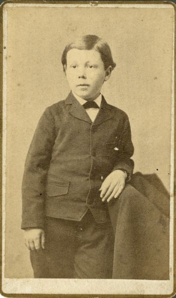 Carte-de-visite of architect Frank Lloyd Wright as a young boy.