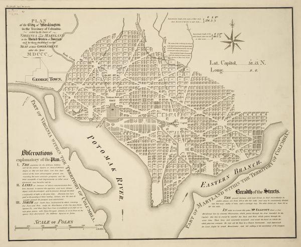 Washington Map Society.Plan Of The City Of Washington Map Or Atlas Wisconsin Historical