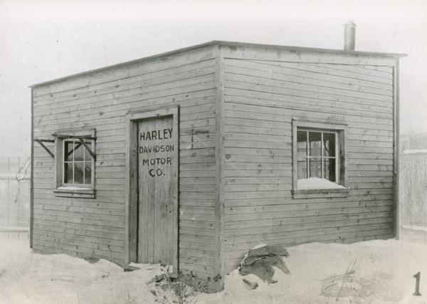 First Harley Davidson Shop Photograph Wisconsin Historical Society