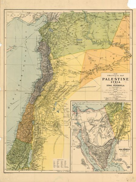 Strategical Map of Palestine, Syria, and the Sinai Peninsula | Map ...