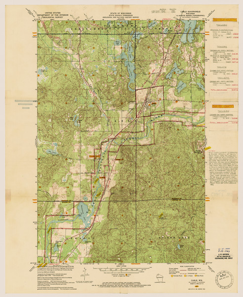 Map Of Cable Map Or Atlas Wisconsin Historical Society