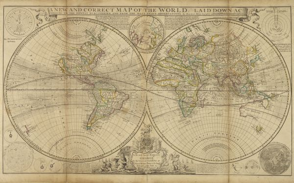 A New and Correct Map of the World Laid Down According to the