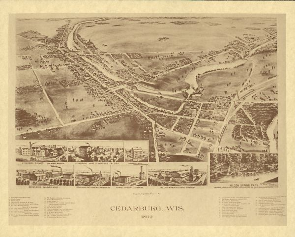 Cedarburg Wisconsin Map.Cedarburg Wisconsin Map Or Atlas Wisconsin Historical Society