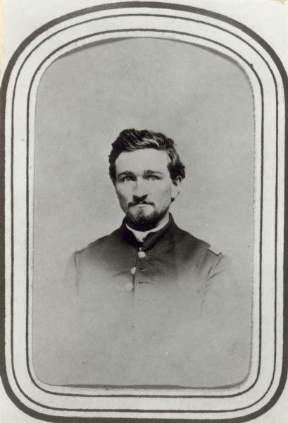 Head and shoulders portrait of Edwin Bryant wearing a Civil War uniform.