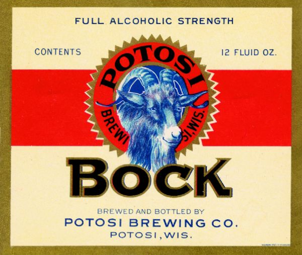 Beer label for Potosi Brewing.