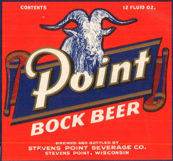 Beer label for Point Brewing.