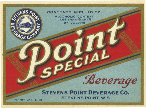 Beer label for Point Special Brewing.