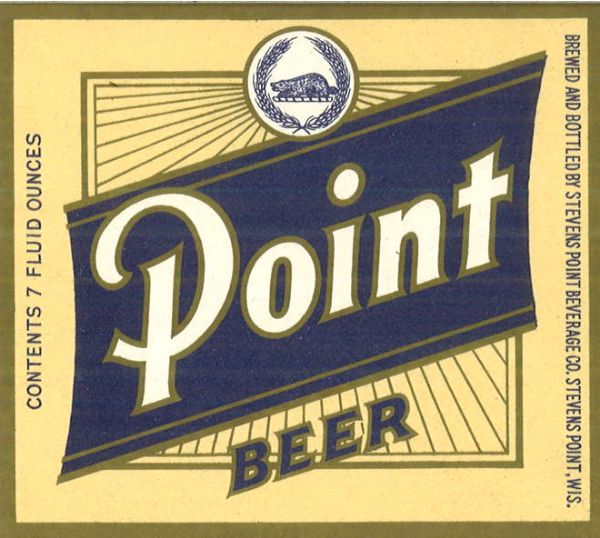 Beer label for Stevens Point Beer.