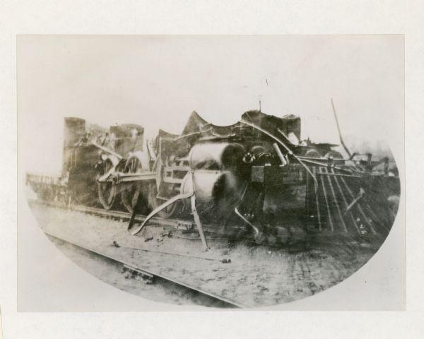 Locomotive Boiler Explosion | Photograph | Wisconsin Historical Society