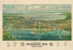 Madison from a bird's eye perspective