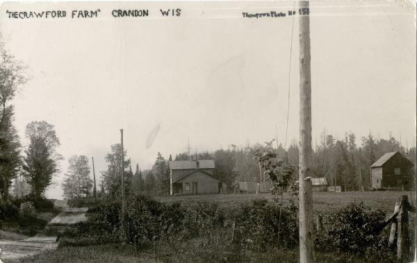The Crawford Farm | Postcard | Wisconsin Historical Society