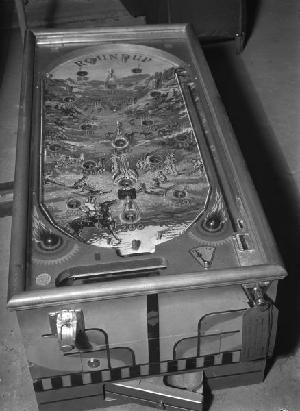 Round-up Pinball Machine taken for Dane Co. Sheriff Dept.